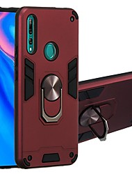 cheap -Case For Huawei nova 4e/P30 Lite/Honor Play 3e Two-in-one Ring Holder Back Cover Armor TPU / PC For Huawei P Smart Z/Honor 8A/Honor 20/Y6 Pro 2019/Y7 Prime 2019/Y5 2019/Y9 Prime 2019