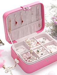 cheap -Jewelry Box - Leather Light Blue, Light Pink, Black 20.5 cm 16 cm 7.5 cm / Women's