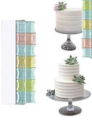 Недорогие -1шт пластик бесплатная комбинация крем торт ракель / скребок выпечки инструмент diy