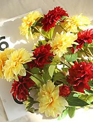 Недорогие -1шт искусственный цветок георгин украшение дома свадьба с цветами в руках