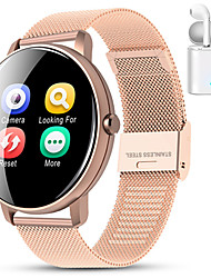 cheap -Indear M9  Women Smart Bracelet Smartwatch BT Fitness Equipment Monitor Waterproof with TWS Bluetooth Wireless Headphones Music Headphones for Android Samsung/Huawei/Xiaomi iOS Mobile Phone
