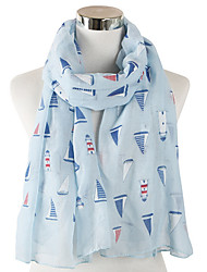 cheap -Women's Basic Rectangle Scarf - Print