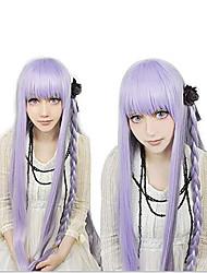 Недорогие -Dangan Ronpa Kyoko Kirigiri Косплэй парики Жен. Прямая челка 34 дюймовый Термостойкое волокно Естественные прямые Фиолетовый Светло-лиловый Аниме