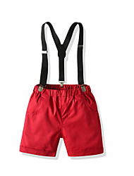 cheap -Kids Boys' Basic Street chic Solid Colored Pants Red