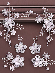 cheap -Women's Hair Jewelry For Wedding Engagement Party Wedding Geometrical Crystal Alloy Silver 1pc