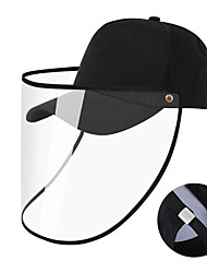 cheap -Hiking Hat Pollution Protection Mask Waterproof Sunscreen Breathable Ultraviolet Resistant Solid Color POLY Cotton Blend Spring Summer for Men's Women's Camping / Hiking Hunting Fishing Black / Brown