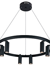 cheap -60 cm Single Design Pendant Light Metal Circle Painted Finishes LED / Modern 110-120V / 220-240V