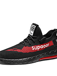 cheap -Men's Mesh Summer / Spring & Summer Sporty / Casual Athletic Shoes Running Shoes Breathable Black / White / Black / Red