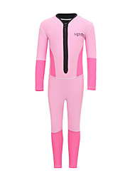 cheap -Girls' Rash Guard Dive Skin Suit Diving Suit UV Sun Protection Anatomic Design Full Body Front Zip - Diving Water Sports Patchwork Summer / Micro-elastic / Kid's