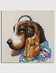 cheap -Hand Painted Canvas Oilpainting Abstract Dog by Knife Home Decoration with Frame Painting Ready to Hang