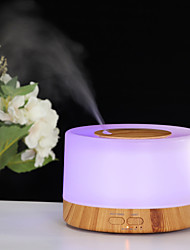 cheap -Aromatherapy Essential Oil Diffuser Humidifier 500ML Wood Grain Ultrasonic Cool Air Mist Humidifier with Remote Control,7 Colors LED Lights and Waterless Auto Shut-off for Bedroom Home Office