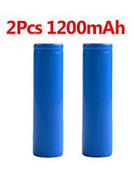 Недорогие -2 шт. Стабильный 1200 мАч 18650 3.7 В перезаряжаемые литий-ионные литиевые батареи фонарик факел фонарик bateria замена