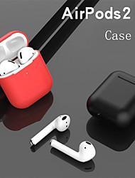 Недорогие -мягкие силиконовые чехлы для apple airpods 2 защитная крышка наушников bluetooth для apple air pods зарядная коробка сумки