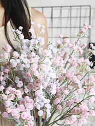 cheap -1pcs INS Wind Flocking Starry Artificial Flower Home Decoration Wedding Bouquet