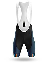 cheap -21Grams Men's Cycling Bib Shorts Bike Bib Shorts Padded Shorts / Chamois Pants Breathable 3D Pad Quick Dry Sports Black / Blue Mountain Bike MTB Road Bike Cycling Clothing Apparel Bike Wear