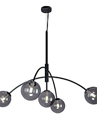 cheap -5-Light 118 cm Sputnik Design Chandelier Metal Glass Electroplated / Painted Finishes Modern / Nordic Style 110-120V / 220-240V