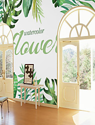 cheap -Custom self-adhesive mural wallpaper leaf suitable for bedroom  living room coffee shop restaurant  hotel wall decoration art Room Wallcovering