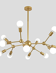 cheap -Chandelier Ambient Light Painted Finishes Metal Sputnik Design, Cluster Design 110-120V / 220-240V
