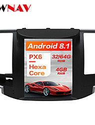 cheap -ZWNAV 10.4 inch 1Din Android 8.1 4GB 64GB DSP PX6 Tesla Car DVD Player GPS Navigation Car multimedia Player tape recorder For NISSAN Teana 2008-2011