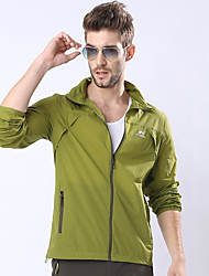 cheap -Men's Hooded Jacket Regular Solid Colored Daily Long Sleeve Army Green Green Royal Blue Light Green US34 / UK34 / EU42 US36 / UK36 / EU44 US38 / UK38 / EU46 US40 / UK40 / EU48