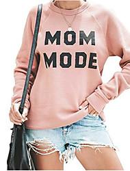 cheap -Women's Sweatshirt Letter Casual Loose Blushing Pink S M L XL