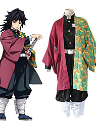 cheap -Inspired by Brave Demon Slayer: Kimetsu no Yaiba Demon Slayer Tomioka Giyuu Anime Cosplay Costumes Japanese Suits Top Pants Cloak For Men's Women's/ Kneepad / Waist Belt / Kneepad