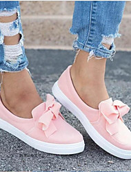 cheap -Women's Sneakers Creepers Round Toe PU Spring &  Fall / Summer Pink / Black / Gray