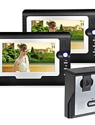 Недорогие -проводной 7-дюймовый громкой связи 800 * 480 пикселей один-два видео домофон