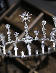 cheap -Women's Tiaras For Wedding Party Evening Prom Festival Pave Alloy Silver 1pc