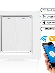 cheap -Smart Switch DS-102-2 WIFI Wall Two Way Switch Smart Wall Press Light Switch-EU