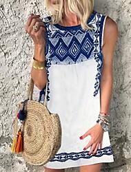 cheap -Women's A Line Dress - Print White S M L XL