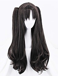 cheap -Synthetic Wig Curly Halloween Asymmetrical Wig Long Natural Black Synthetic Hair 32 inch Women's Best Quality Black