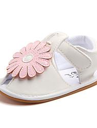 cheap -Girls' Comfort / First Walkers PU Flats Infants(0-9m) / Toddler(9m-4ys) Flower Pink Spring / Summer / Rubber
