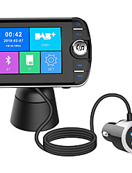 cheap -DAB004 Bluetooth FM Transmitter for Car Digital Radio Receiver FM Tuner Radio Car Bluetooth 4.2 LCD Display Transmitter Adapter FM DAV/DAB Tuner Broadcasting