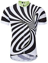 Недорогие -21Grams 3D Муж. С короткими рукавами Велокофты - Черный / Белый Велоспорт Джерси Верхняя часть Дышащий Быстровысыхающий Влагоотводящие Виды спорта 100% полиэстер Горные велосипеды Шоссейные велосипеды