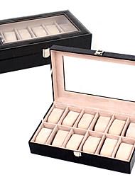 cheap -Jewelry Box - Leather Black, Brown, Burgundy 32.5 cm 20 cm 9 cm / Women's