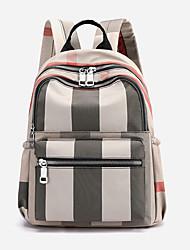 Недорогие -Большая вместимость Полиэстер Молнии рюкзак Решетка Повседневные Винный / Хаки / Зеленый