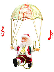 cheap -Christmas Gift Parachute Toy Santa Claus Lovely Novelty Electric Plastic Fabrics Elementary All Toy Gift 1 pcs