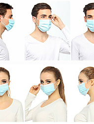 cheap -50Pcs Disposable Protective Mouth Masks Earloops CE Certified Face Masks