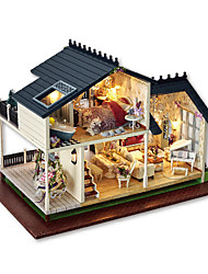 cheap -CUTE ROOM Model Building Kit Wooden Model DIY Furniture House Wooden Unisex Toy Gift
