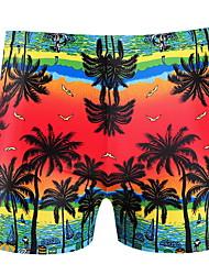 cheap -Men's Blue Red Boy Leg Bottoms Swimwear Swimsuit - Fruit One-Size Blue