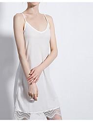 cheap -Women's White Black Dress Sheath Solid Color Strap M L