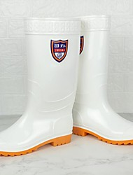 cheap -Men's PVC Spring & Summer Boots Waterproof Knee High Boots White