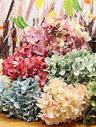 Недорогие -1 шт. Высокого класса 6 веток 8 цветов ретро моделирование гортензии поддельные букет цветов шелк цветок домой свадьба проведение декоративные цветы