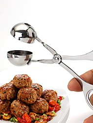 cheap -Ball Maker Stainless Meatball Production Mold Convenient Fried Meatballs Making Spoon Kitchen Meat Tools