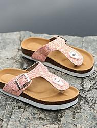 cheap -Girls' Comfort Rubber Slippers & Flip-Flops Toddler(9m-4ys) Pink / White / Black Spring
