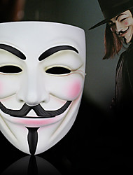 cheap -Mask Halloween Mask Inspired by V for Vendetta Scary Movie White Halloween Halloween Masquerade Adults' Men's
