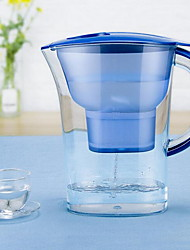 cheap -Water Filter Pitcher with Water Quality Meter,White and Blue