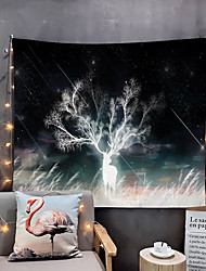 cheap -Home Living Animal Tapestry Wall Hanging Tapestries Wall Blanket Wall Art Wall Decor Beautiful Deer Tapestry Wall Deco