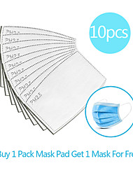 cheap -10pcs Carbon Filter Disposable Mask Gasket Isolation Filter Pad Anti-fog Haze Dust-proof Breathable Mask Replacement Pad Linen Cotton blend Pad